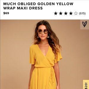 Lulu's Maxi Wrap Dress - Worn once